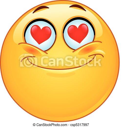 In love emoticon - csp5317997