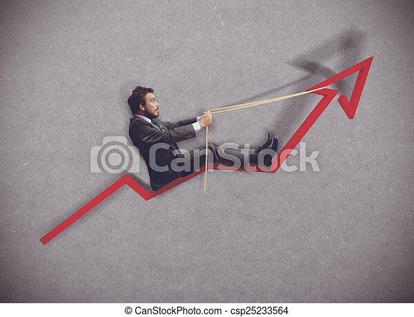 Increase of economy - csp25233564