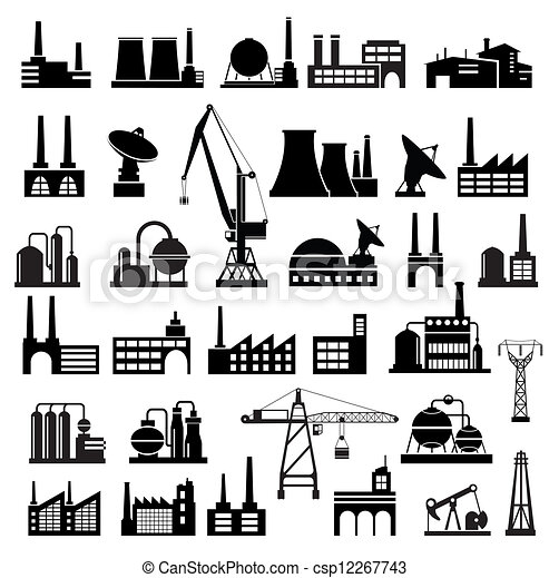 Industrial buildings 2 - csp12267743