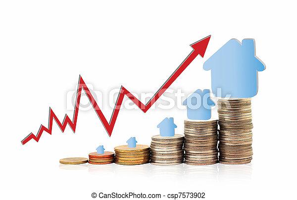 Invest in real estate concept - csp7573902