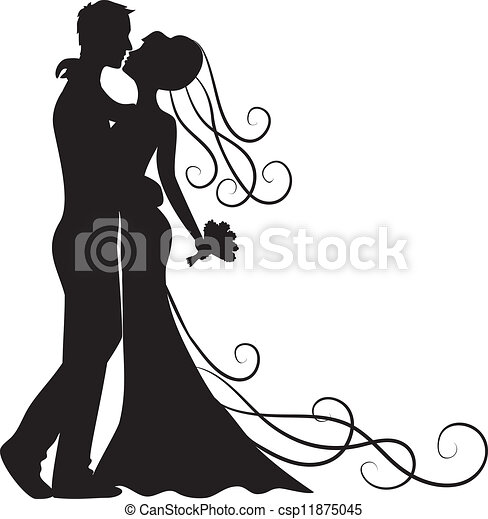 kissing groom and bride - csp11875045