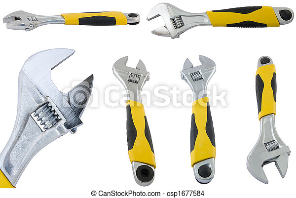 large page of adjustable spanner. - csp1677584