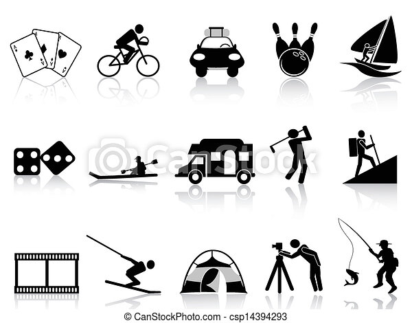 Leisure and Recreation icons set - csp14394293