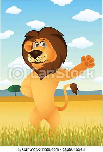 Lion Cartoon - csp9645543