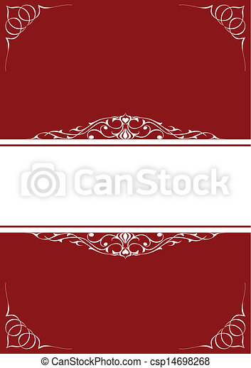 Little frames over red background - csp14698268