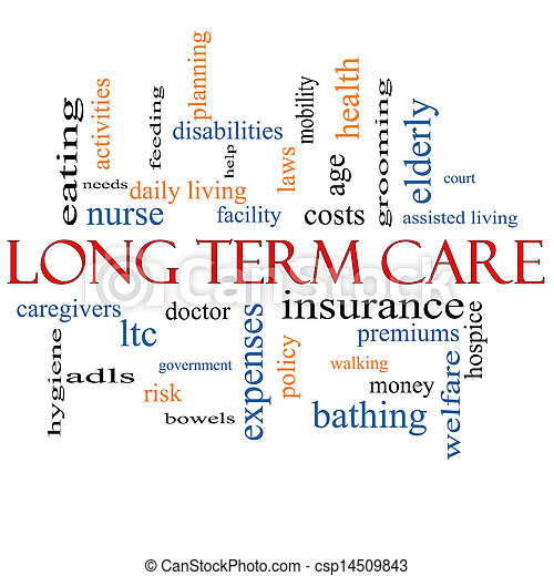 Long Term Care Word Cloud Concept - csp14509843