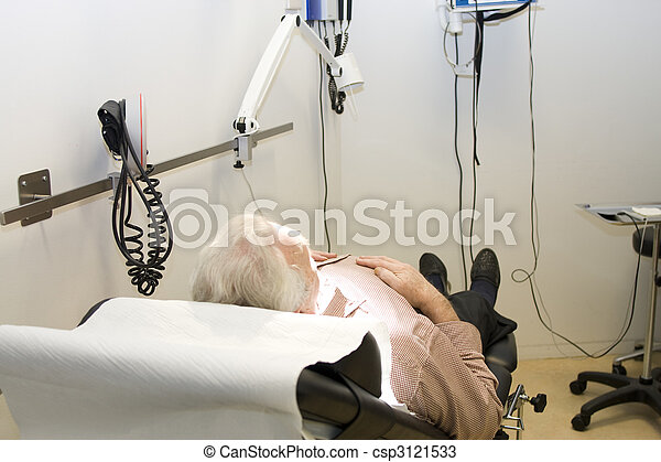 male patient waiting for treatment - csp3121533