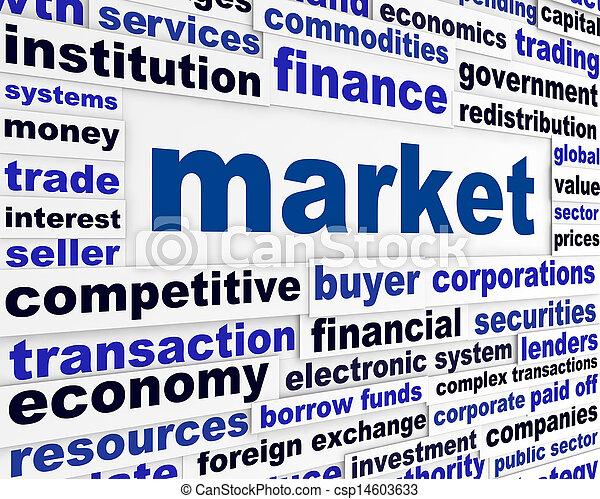 Market creative words concept - csp14603633