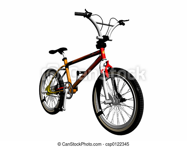 Mbx bicycle over white. - csp0122345