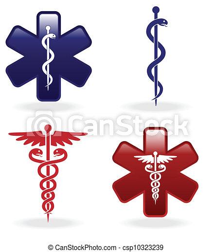 Medical symbols set - csp10323239