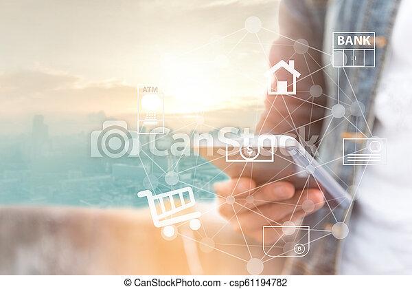 mobile banking - csp61194782