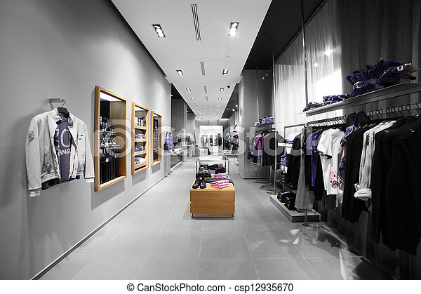 modern and fashion clothes store - csp12935670