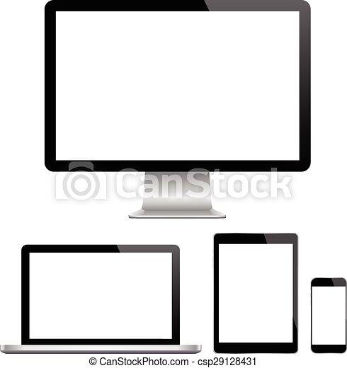 Modern monitor, computer, laptop, p - csp29128431