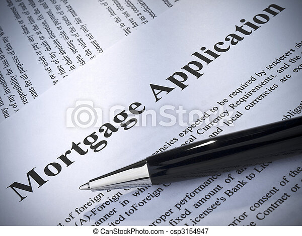 Mortgage application - csp3154947