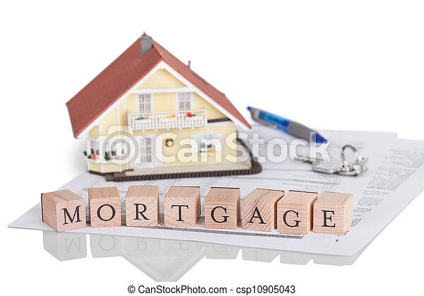 Mortgage concept with alphabet - csp10905043