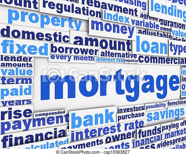Mortgage poster conceptual design - csp10363827