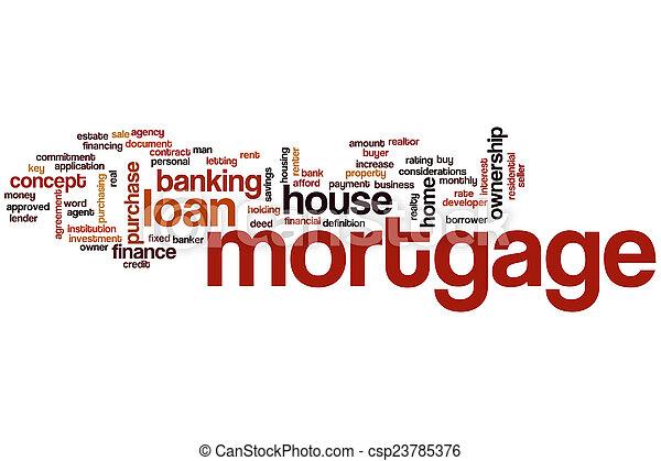 Mortgage word cloud - csp23785376