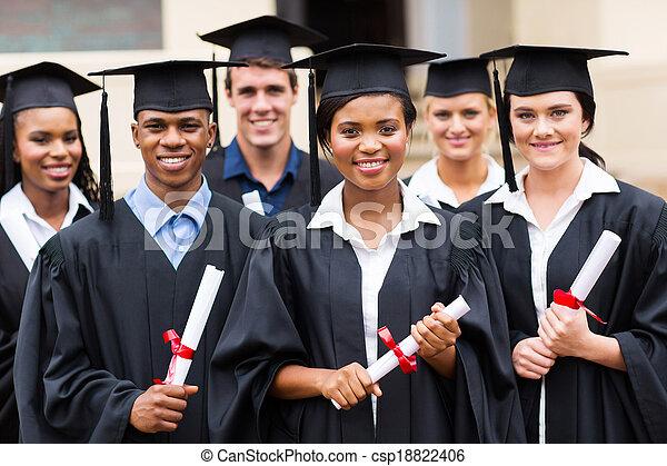multiracial graduates - csp18822406