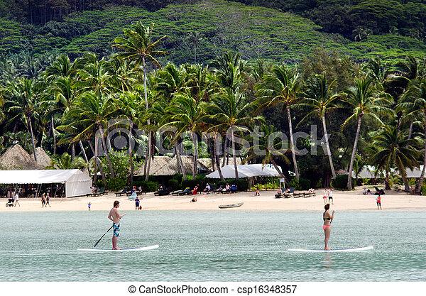 Muri Lagoon in Rarotonga Cook Islands - csp16348357