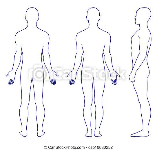 Naked standing man - csp10830252