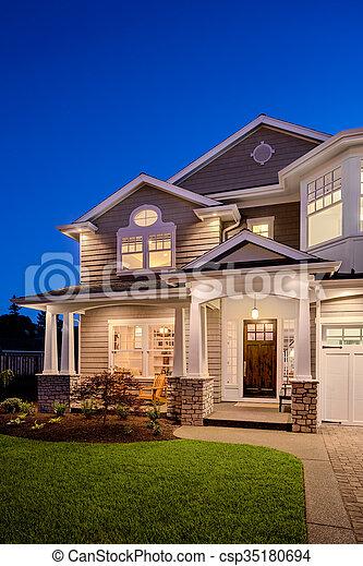 New Home at Night - csp35180694