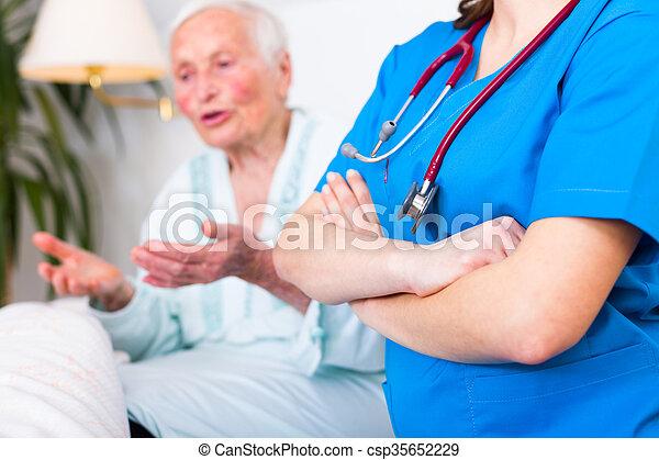 Nursing home care concept - csp35652229
