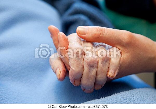 Old Hand Care Elderly - csp3674078