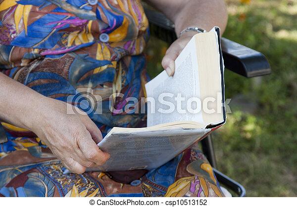 older person reading - csp10513152