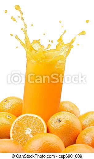 orange juice splashing - csp6901609