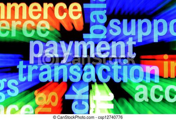 Payment transaction - csp12740776
