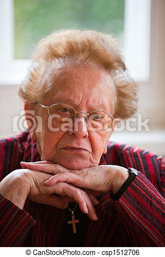 Pensive senior - csp1512706