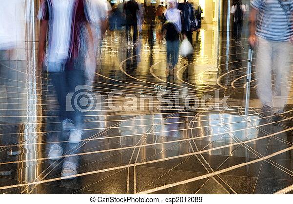 People walking thru the mall. - csp2012089