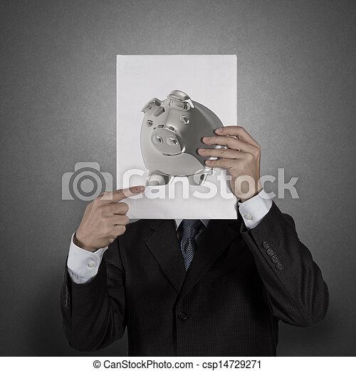 piggy bank business man concept creative - csp14729271