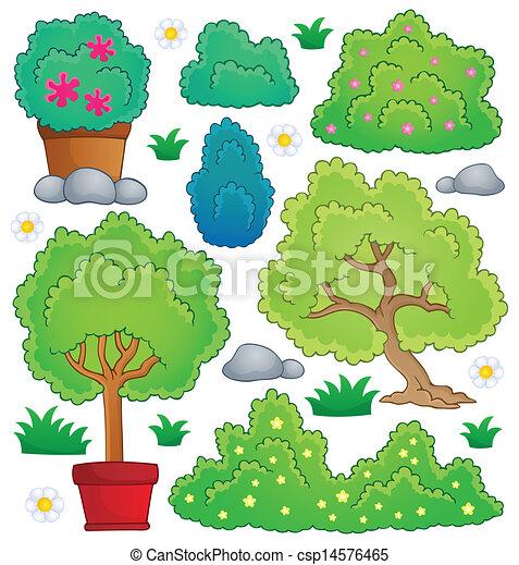 Plants and bush theme collection 1 - csp14576465