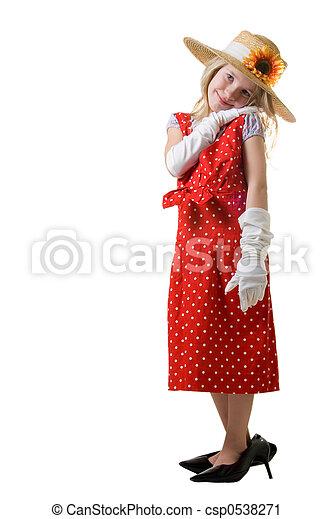 playing dress up - csp0538271