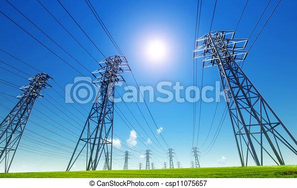 power line - csp11075657