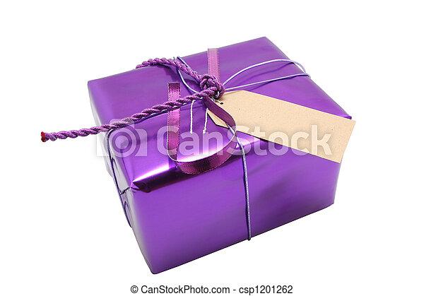 purple present - csp1201262