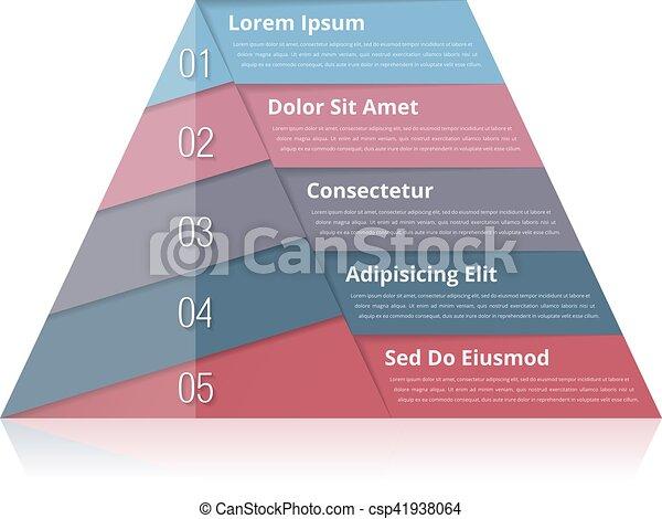 Pyramid Chart - csp41938064