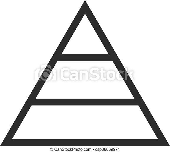 Pyramid Chart - csp36869971