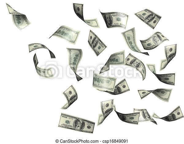 Rain from dollars - csp16849091