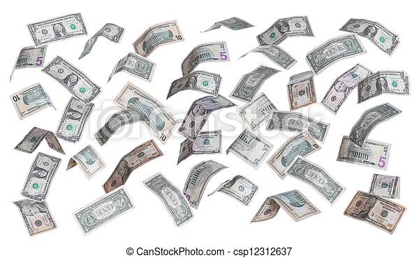 rain of dollars - csp12312637