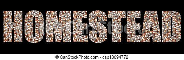Real Estate Home Homestead - csp13094772