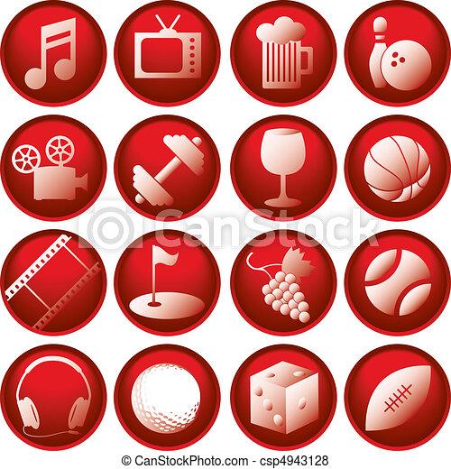 Recreation Icon Buttons - csp4943128