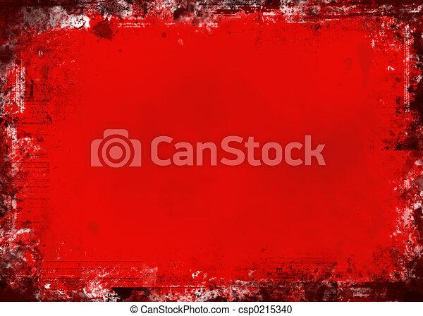 Red grunge - csp0215340