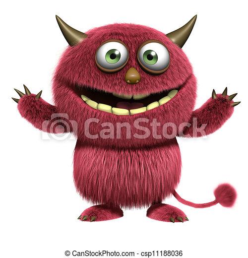 red hairy alien - csp11188036