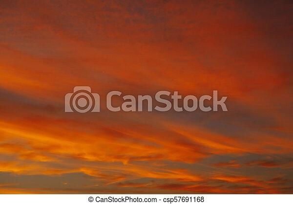 red sky sunrise background - csp57691168