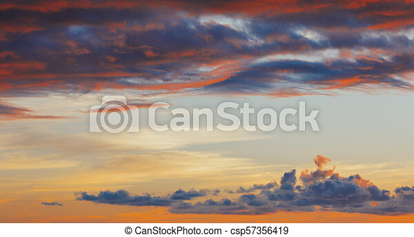red sky sunset background - csp57356419