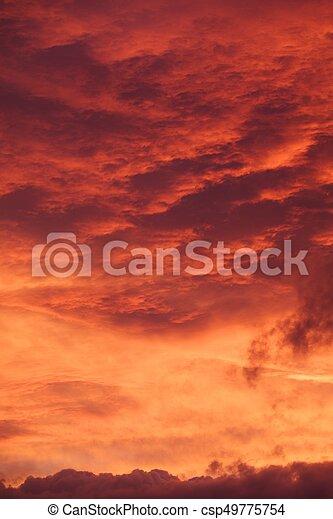 red sunrise cloudscape - csp49775754