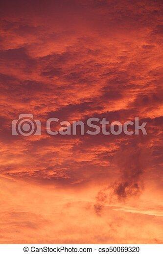 red sunrise cloudscape - csp50069320