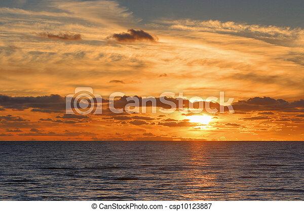 Red sunset - csp10123887